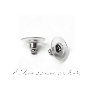 1 Pair .925 Sterling Silver Stud Earring Backs Clutch Push Stopper Scrolls SF187